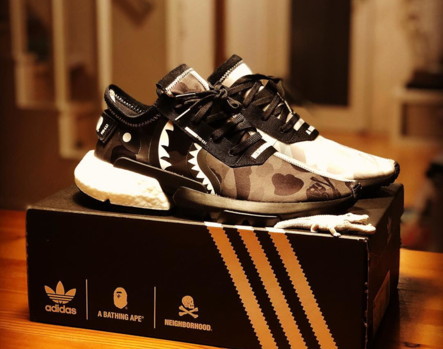 Adidas Pod S3.1 Bape x Neighborhood Shark Camo