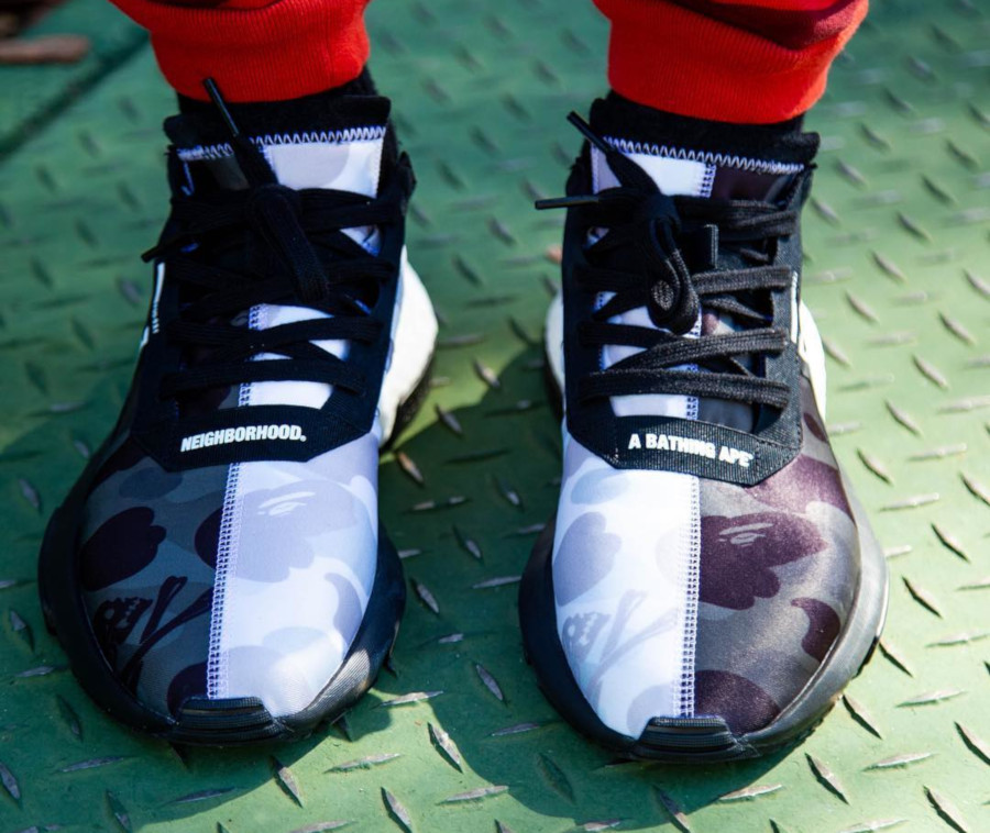Adidas Pod S3.1 imprimé camouflage noir et blanc (tête de requin) (2)