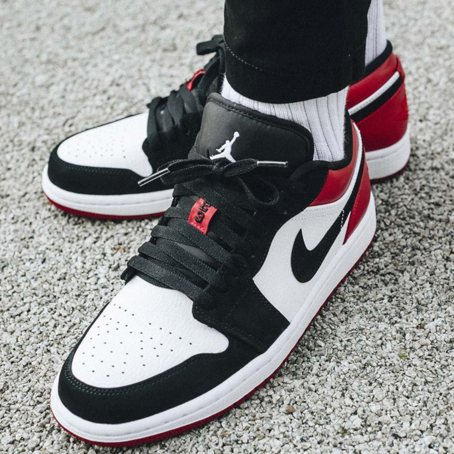 Air-Jordan-1-Low-Black-Toe-White-Gym-Red-3