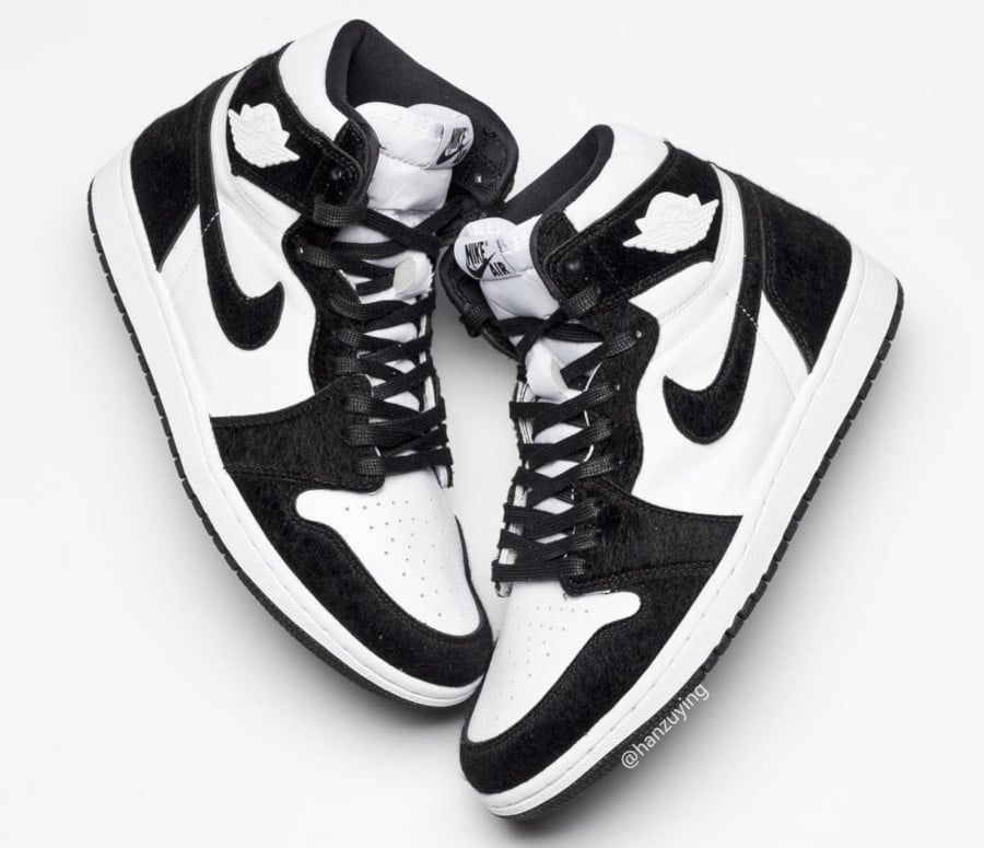 info for 5bf0d 88dc2 Air Jordan 1 femme Twist Panda Black White (1)