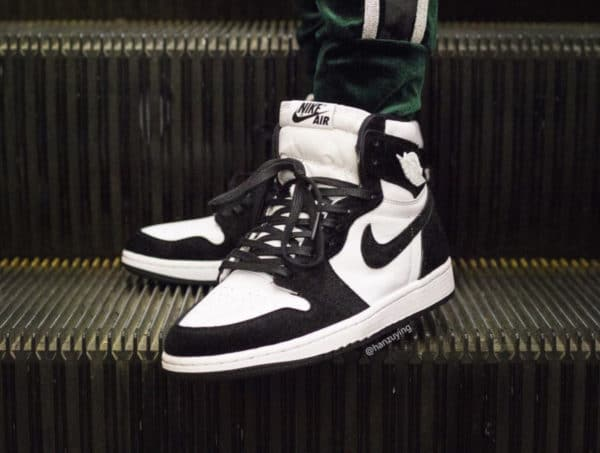 Air Jordan 1 femme Twist Panda Black White (2)
