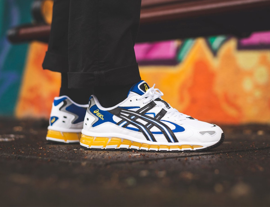 Asics Gel Kayano 5 360 OG White Black Yellow Blue (2)