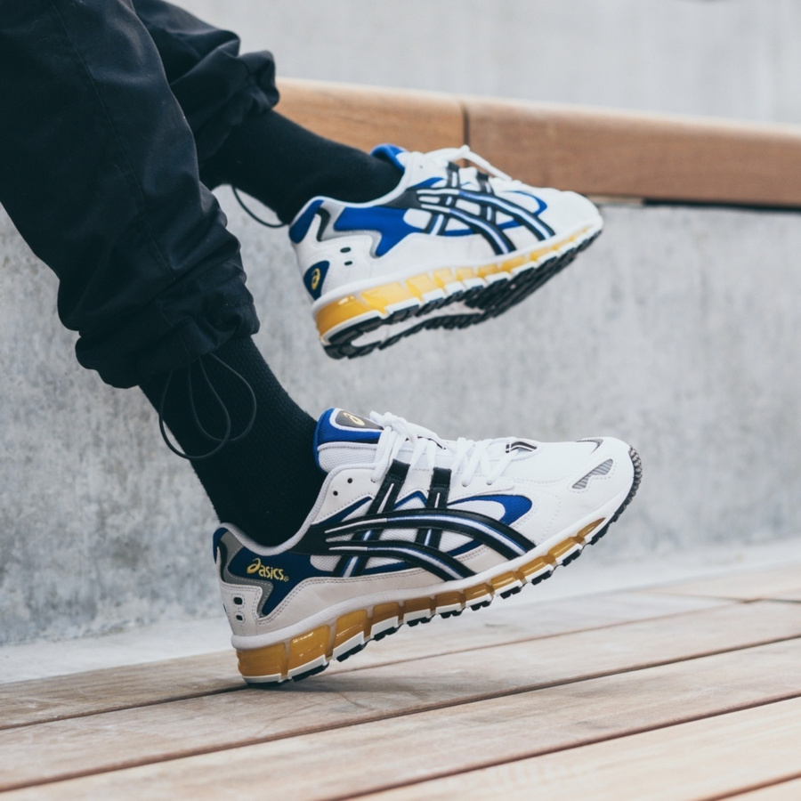 Asics Gel Kayano 5 360 OG White Black Yellow Blue (3-1)