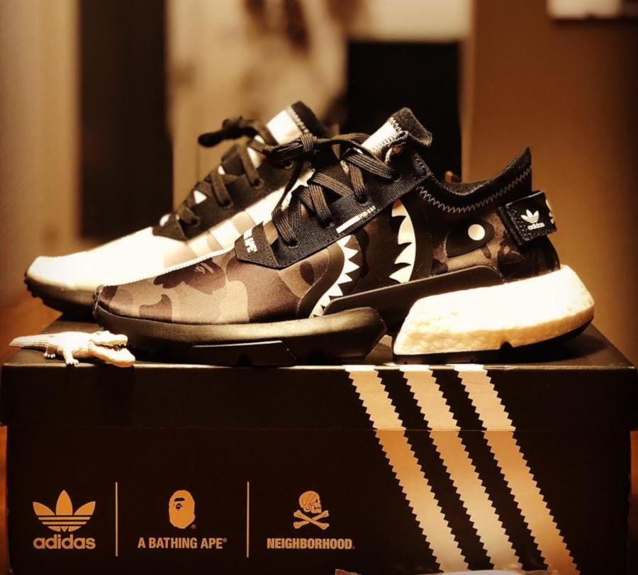 BAPE x Neighborhood x Adidas Pod S3.1 'Core Black' (2)