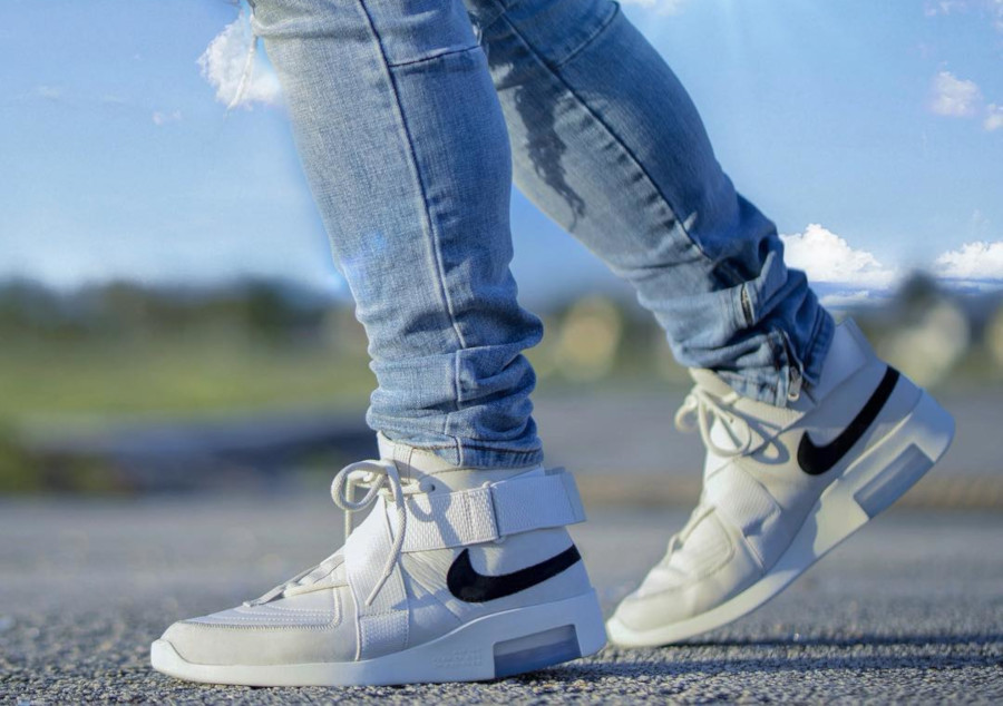 Fear of God x Nike Air Raid blanc cassé (4)