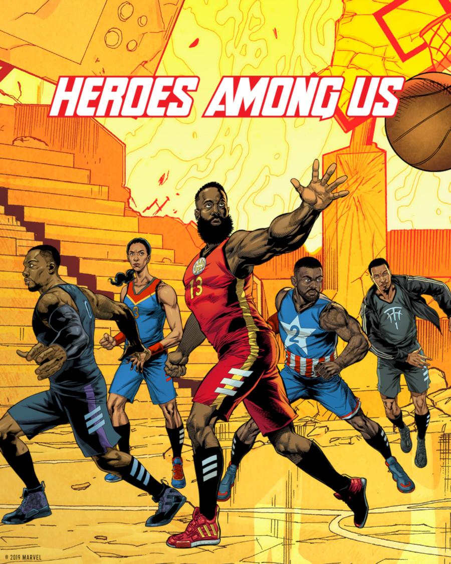 Marvel Avengers x Adidas Basketball