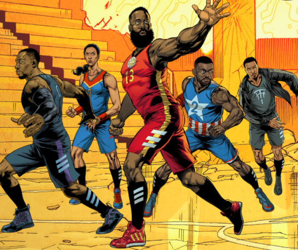 Marvel Avengers x Adidas Basketball(couv)