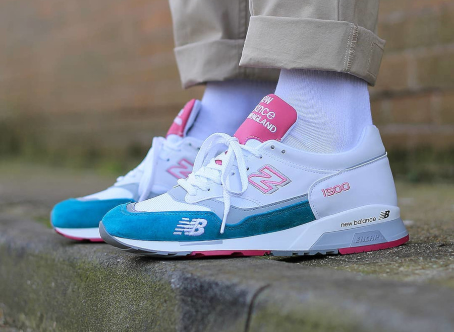 New Balance M 1500 WTP White Teal Pink (made in England)