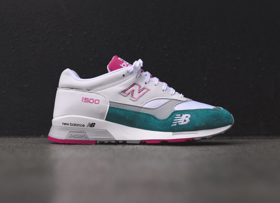 New Balance M 1500 WTP White Teal Pink (made in England) (1)