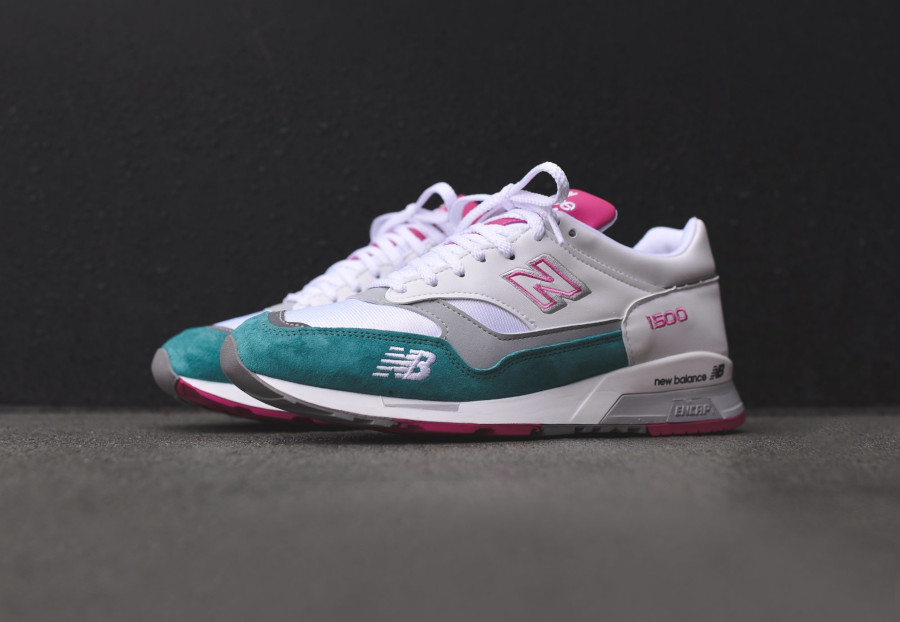 New Balance M 1500 WTP White Teal Pink (made in England) (3)