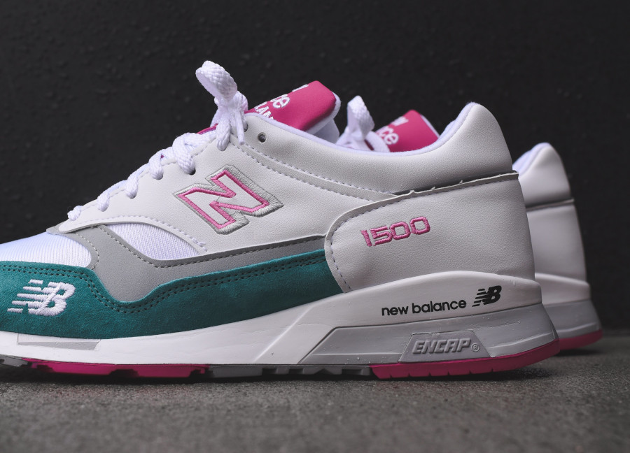 New Balance M 1500 WTP White Teal Pink (made in England) (4)