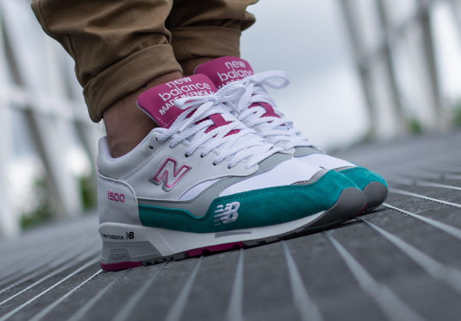 New Balance M 1500 WTP White Teal Pink (made in England) (6)