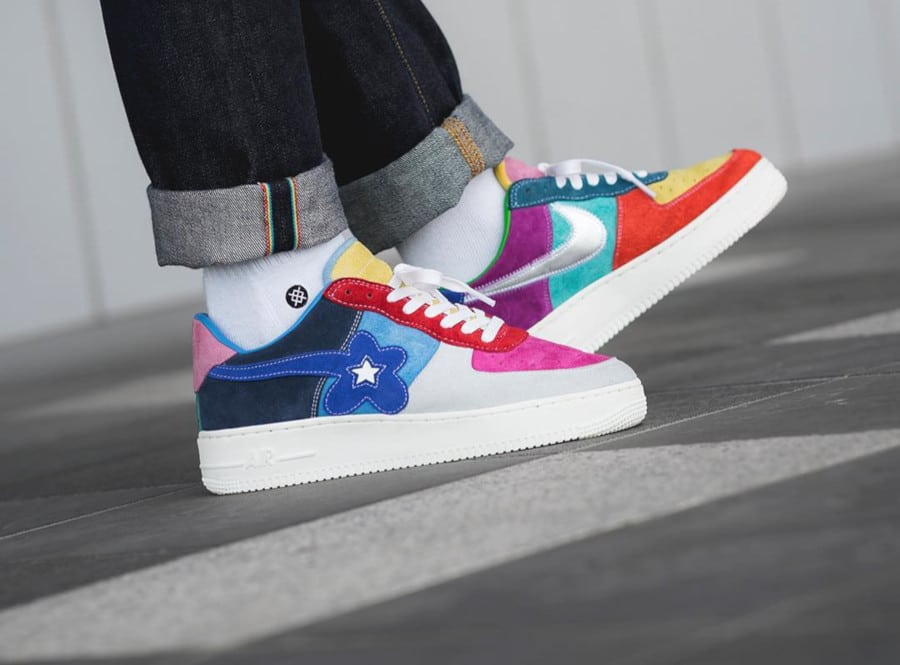 Nike Air Force 1 Multicolor What the Swoosh par BespokeIND (2)
