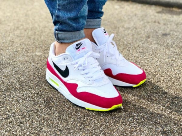 on sale cb0a9 bbffe Nike Air Max 1 Rush Pink Volt White Black AH8145-111