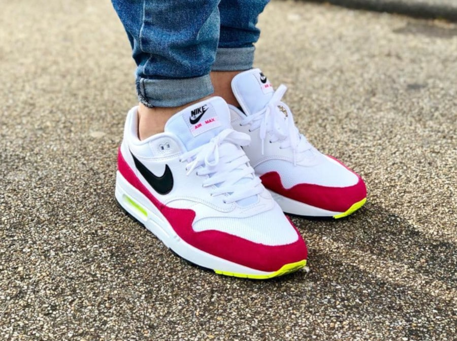 Nike Air Max 1 (White Black Volt Rush Pink)