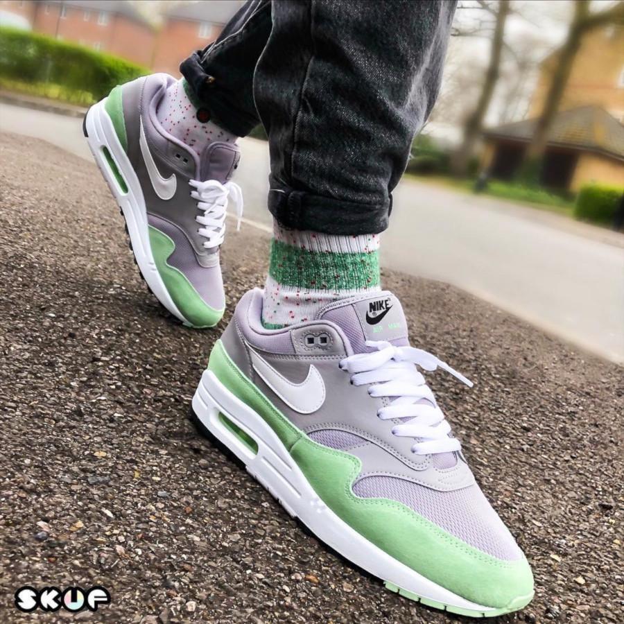 Nike Air Max 1 grise et vert menthe (3-1)