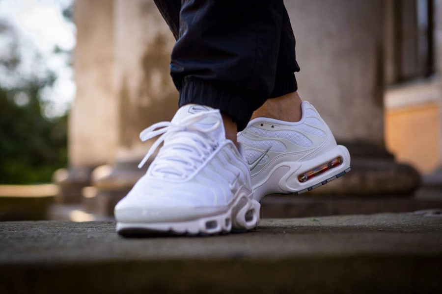 Nike Air Max Plus Requin TN 2019 en mesh blanc (2)
