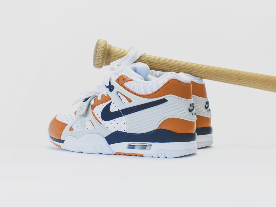 Nike Air Trainer III White Midnight Navy Ginger Light Bone (2)