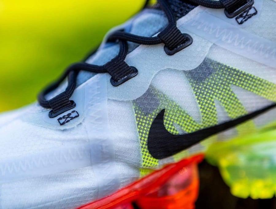 Nike Air Vapormax 2019 grise vert fluo et rouge (4)