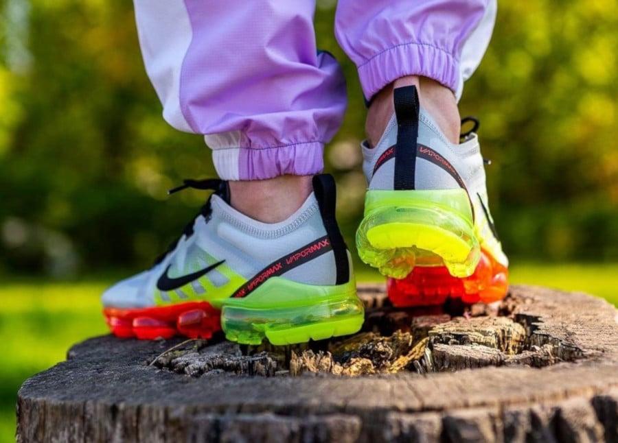 Nike Air Vapormax 2019 grise vert fluo et rouge (5)