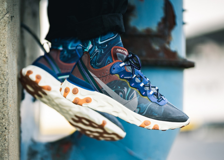 Nike React Element 87 Dusty Peach AQ1090-200 (1)