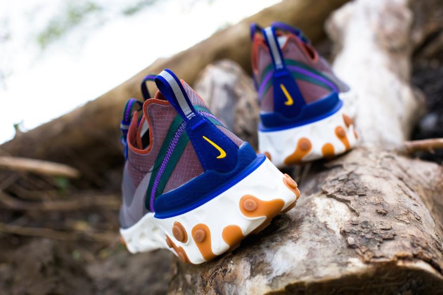 Nike React Element 87 marron violet et bleu (3)