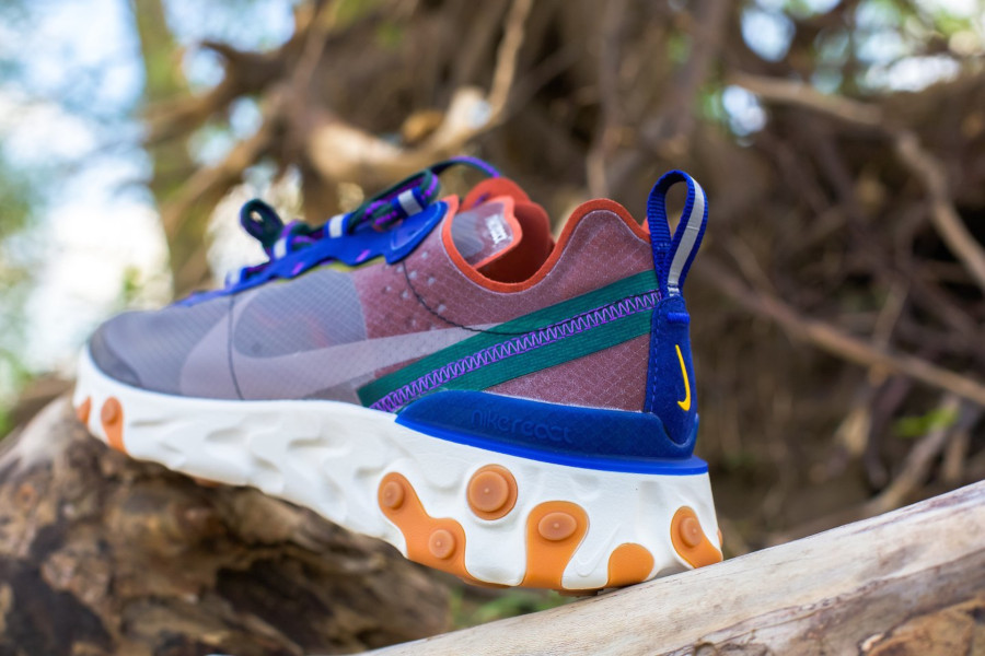 Nike React Element 87 marron violet et bleu (4)