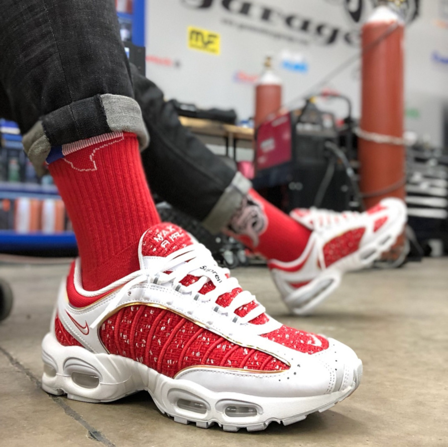 Supreme x Nike Air Max Tailwind IV White Red - @thekid.james