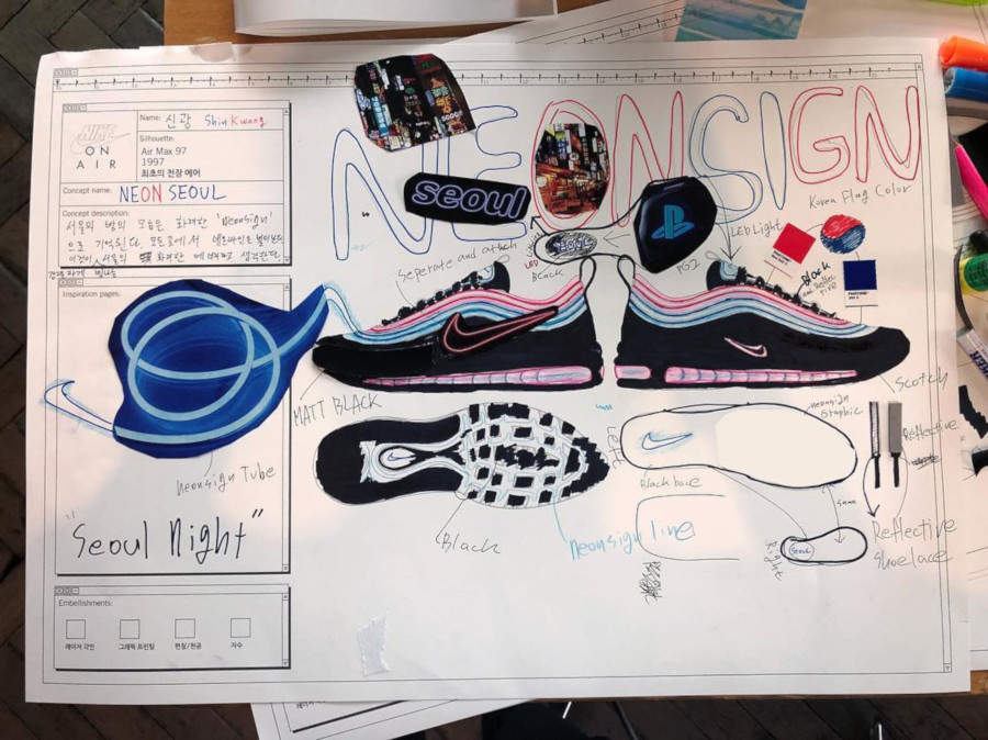 croquis Nike On Air Max 97 Shin Gwang (2)