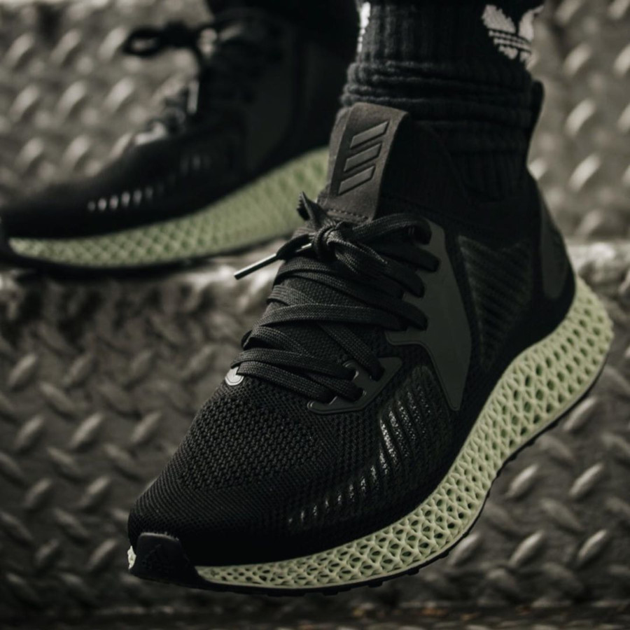 Adidas Alphaedge 4D Core Black Carbon on feet EF3453