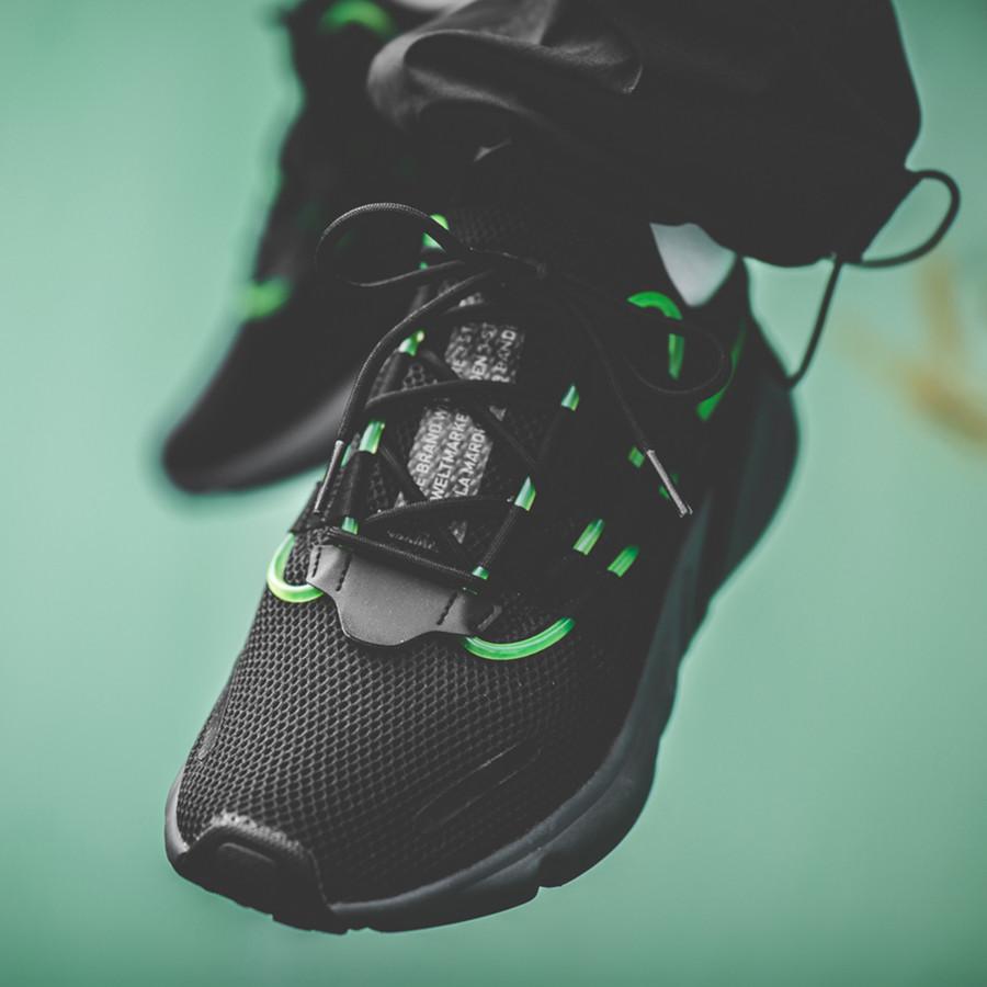 Adidas Lexicon noire avec un tube vert fluorescent (4)