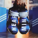 Billionaire Boys Club x Pharrell Williams x Adidas NMD HU Blue Plaid