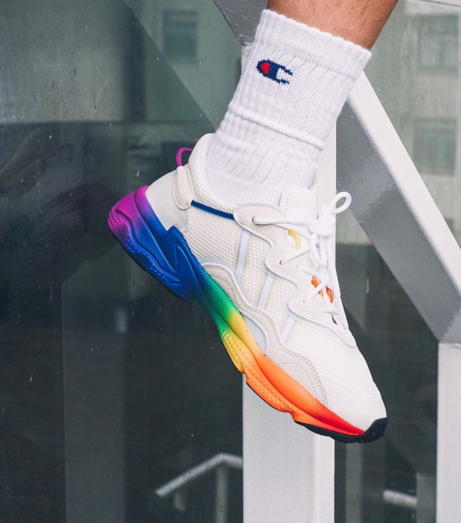 Adidas Ozweego Adiprene Pride 2019 'Off White Multicolore' (4)
