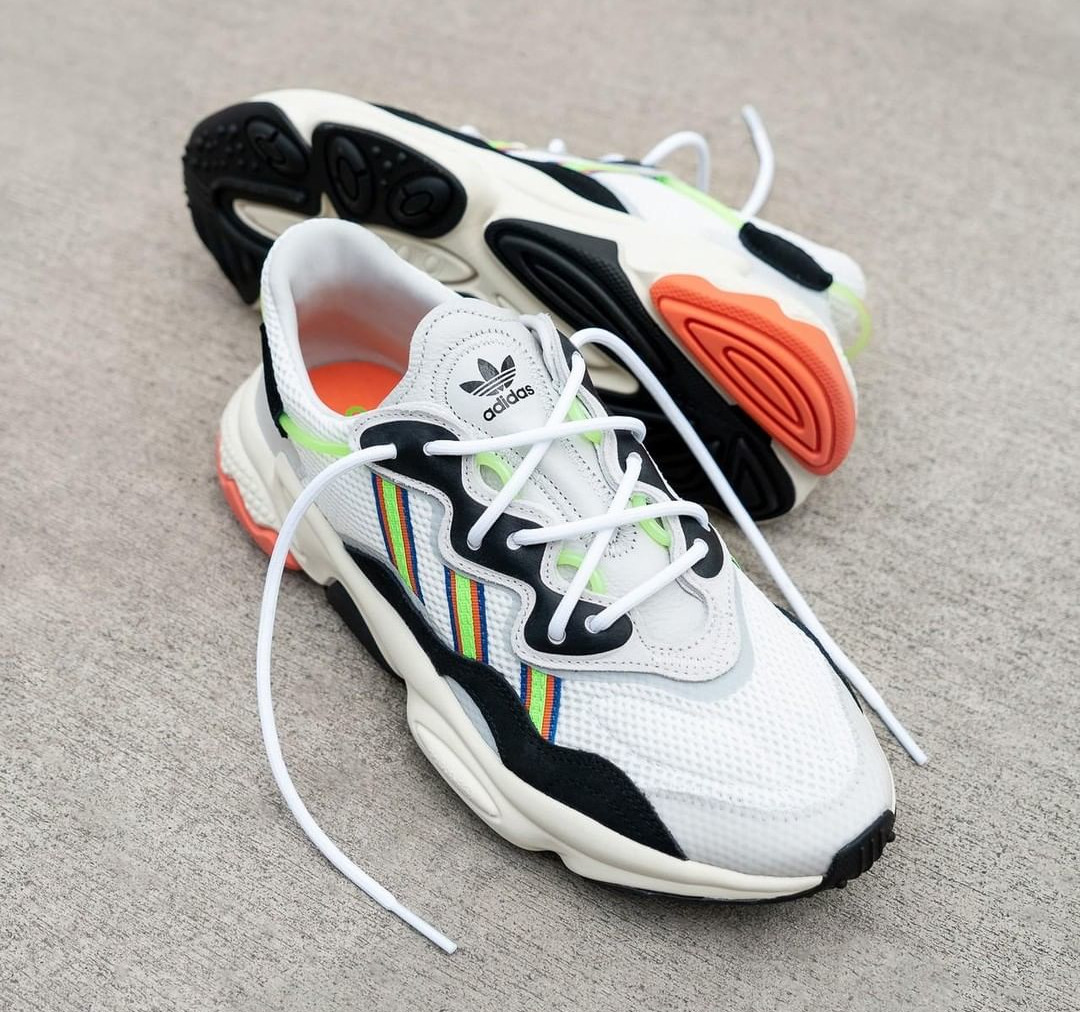 Adidas Ozweego Adiprene White Solar Green (X-Model Era Pack) (1)