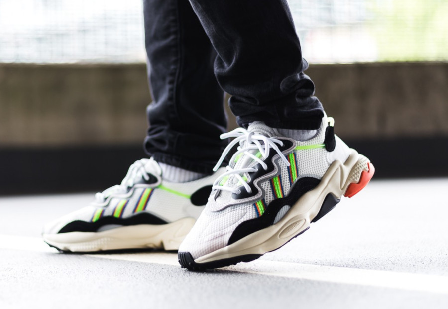 Adidas Ozweego Adiprene White Solar Green (X-Model Era Pack) (2)