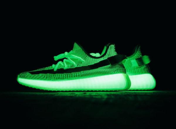 Adidas Yeezy Boost 350 GID Glow vert fluo EG5293