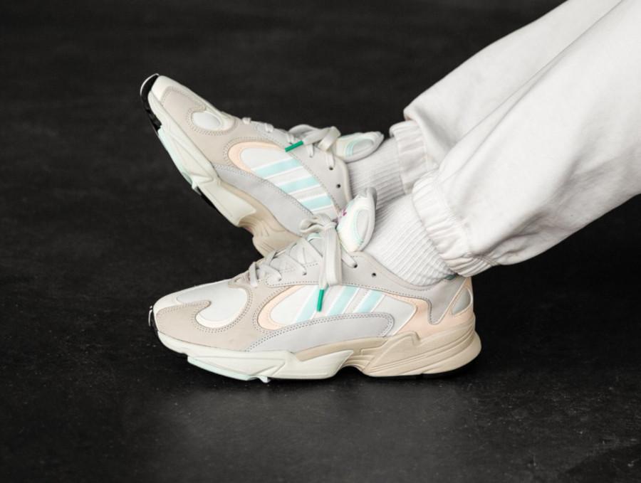 Adidas Yung-1 Off White Ice Mint Ecru Tint (2)