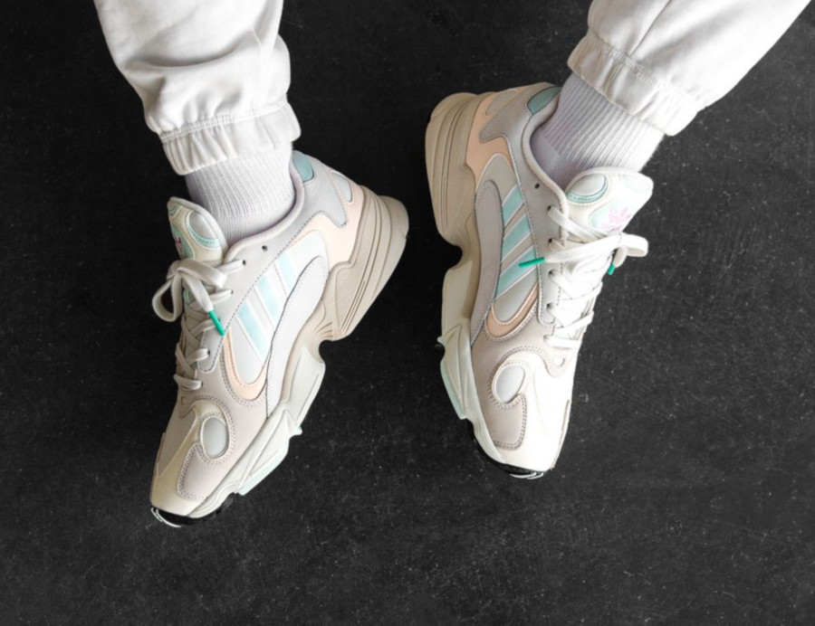 Adidas Yung-1 Off White Ice Mint Ecru Tint (3)