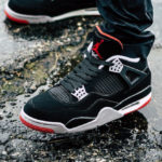 Air Jordan 4 Retro Bred 2019 'Nike Air' Black Cement Grey