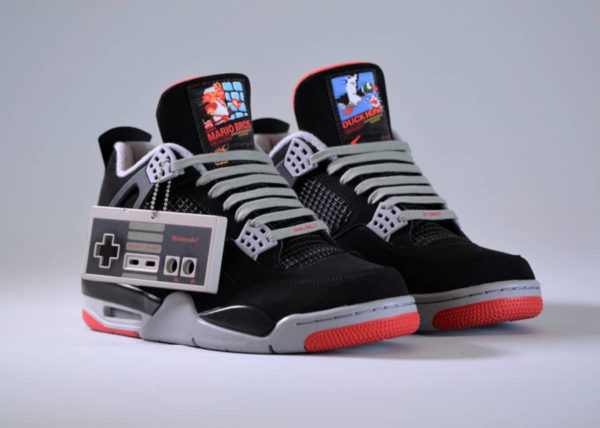 wholesale dealer 4e6d4 55531 Air Jordan 4 Retro Bred Nintendo Nes  Super Mario Bros