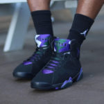Air Jordan 7 Retro 'Ray Allen' Black Fierce Purple