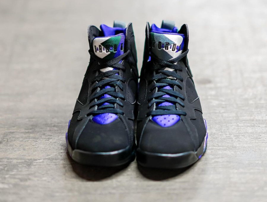 Air Jordan 7 Retro 'Ray Allen' Black Fierce Purple (1)