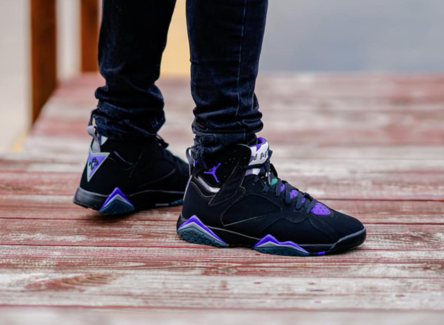 Air Jordan 7 Retro 'Ray Allen' Black Fierce Purple (5)