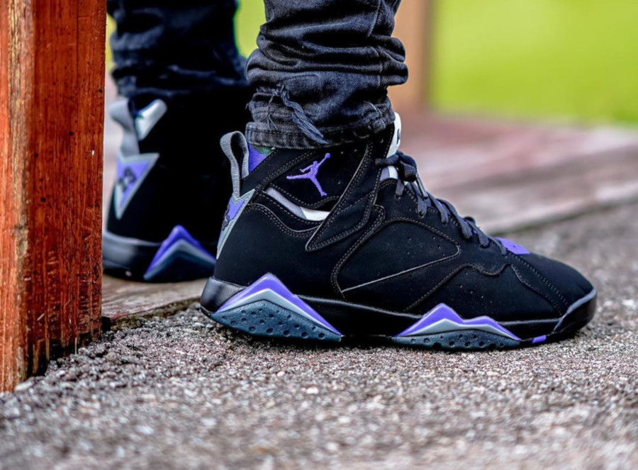 Air Jordan 7 Retro 'Ray Allen' Black Fierce Purple (6)