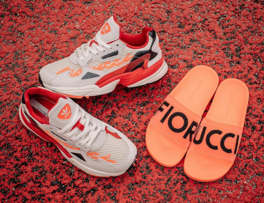 Fiorucci x Adidas Falcon W 'Off White Red Solar Orange' (1)