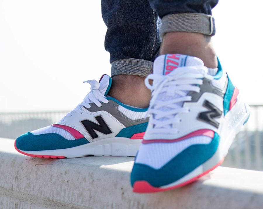 new balance blanc rose bleu
