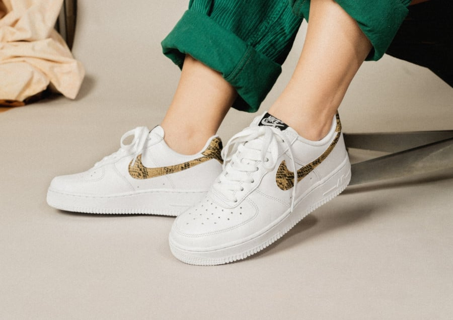 Nike Air Force 1 '07 Low Retro PRM QS 'Ivory Snake' (2)