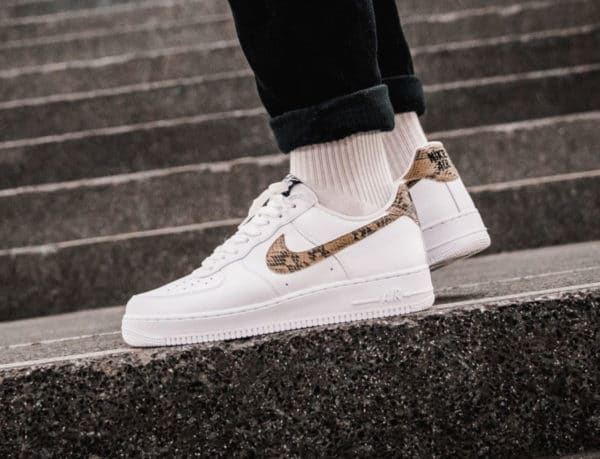 new product dc4ec 5d087 Nike Air Force 1  07 Low Retro PRM QS  Ivory Snake  (4