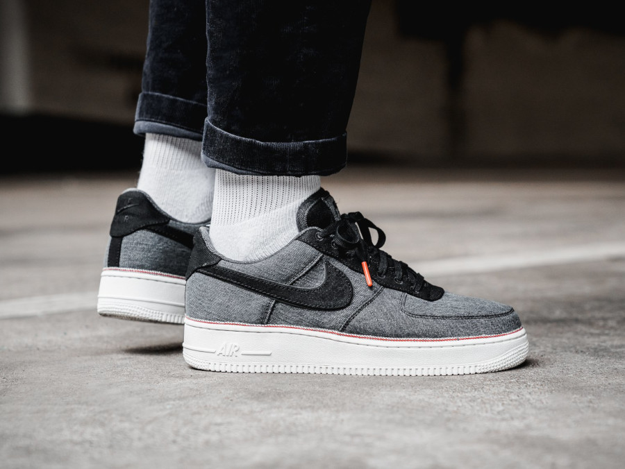 Nike Air Force 1 '07 Premium Black Denim (2)