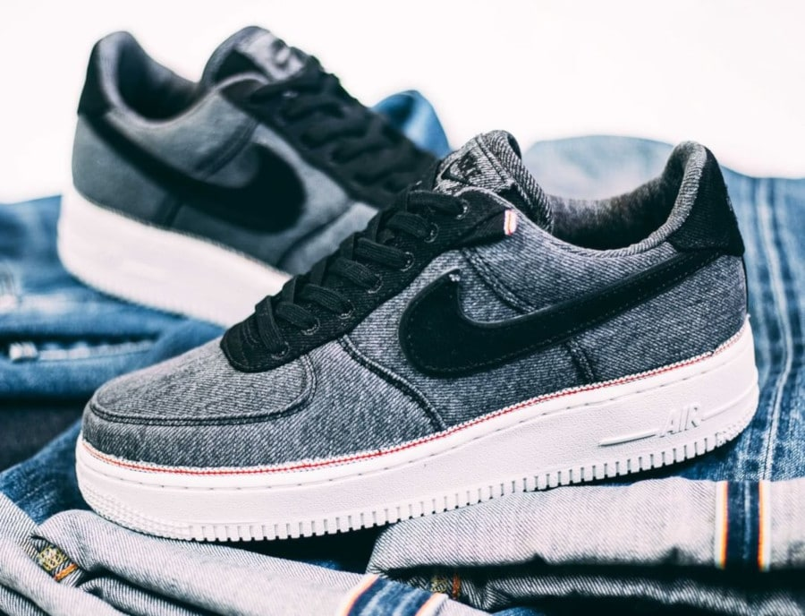 Nike Air Force 1 '07 Premium Black Denim (1)